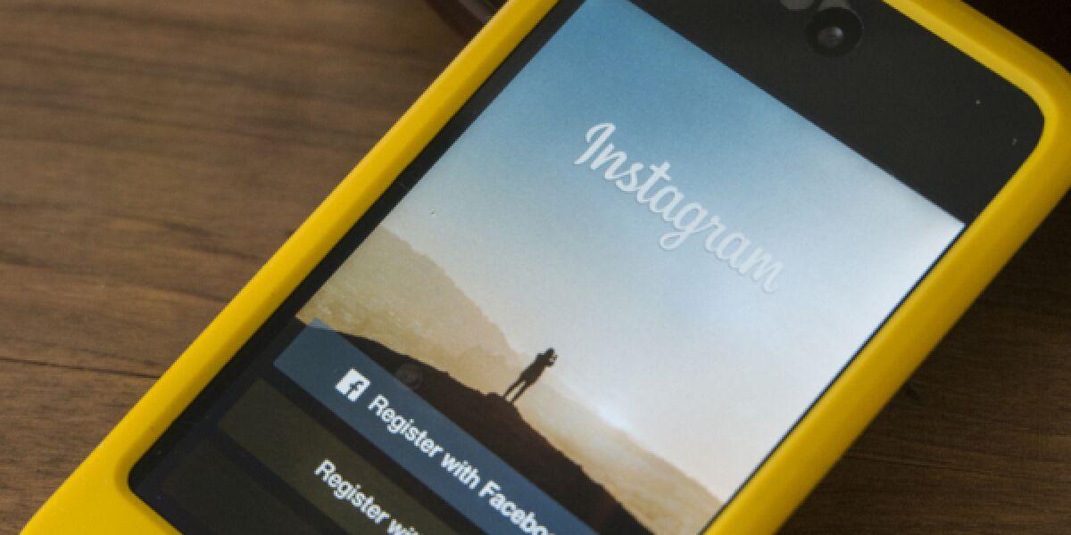 Instagram auf Smartphone-Display