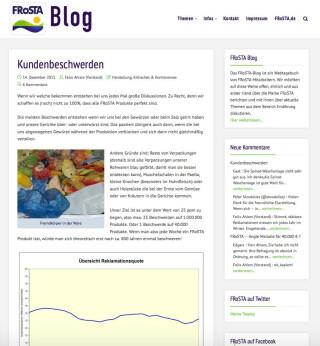 Der Frosta Blog