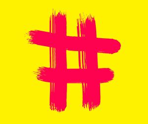 roter Hashtag