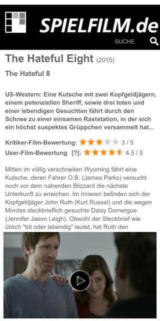 Beispiel bei Spielfilm.de