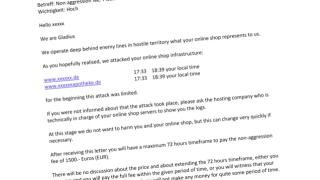 Erpressung gegen Online-Apotheken durch Gladius-Bande