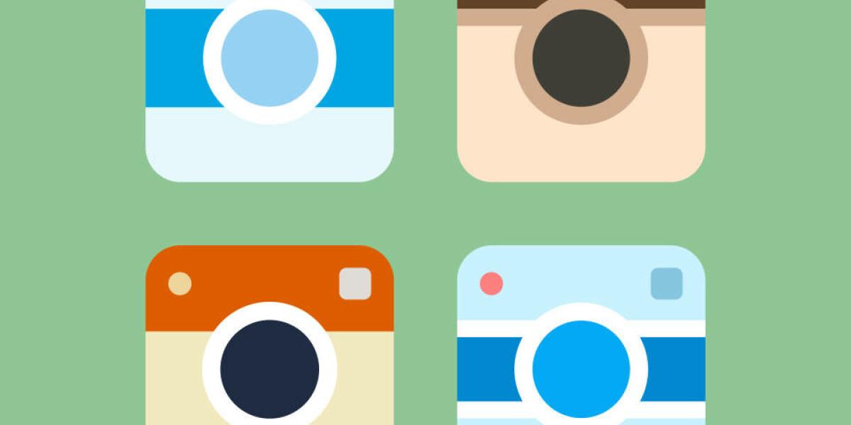 Bunte Instagram Kameras