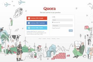 Startseite von Quora