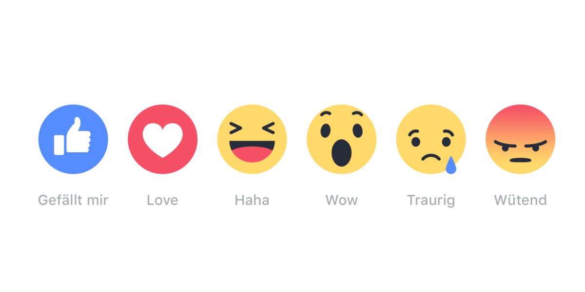 verschiedene Emoticons