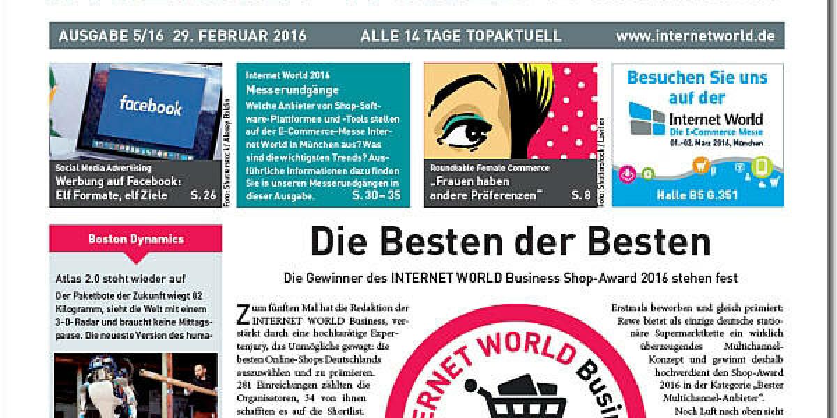 Cover der Ausgabe 5 der INTERNET WORLD Business