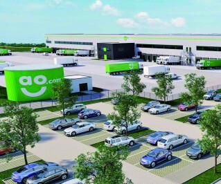 Europazentrale und Logistikzentrum von AO.de in Bergheim bei Köln