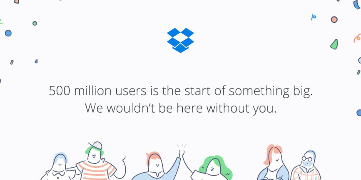 Dropbox feiert 500 Millionen Nutzer
