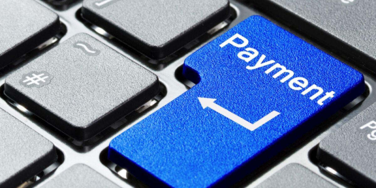 Payment auf der Tastatur