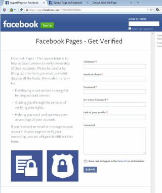 Betrugsversuch bei Facebook