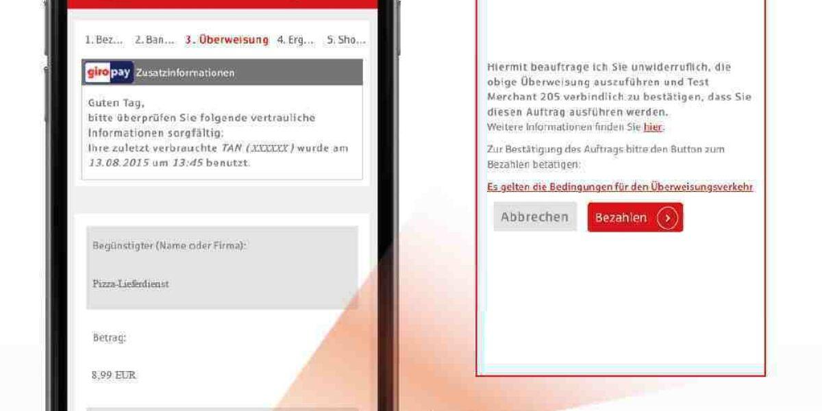 Giropay auf Smartphone mit Erklärung