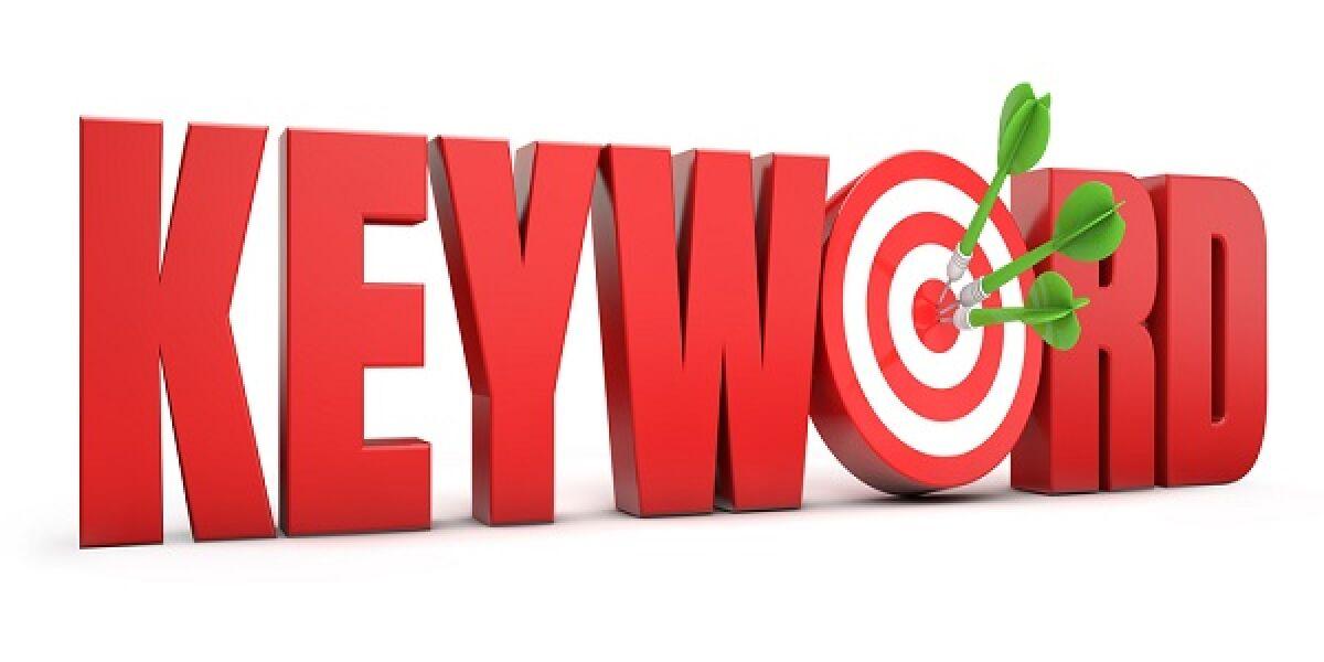 Keyowrd in roten Buchstaben