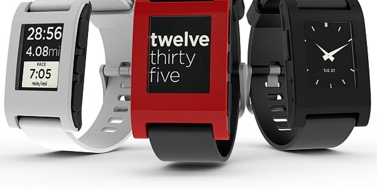 3 Pebble Smartwatches