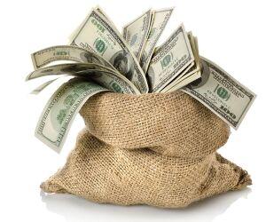 Sack voller Geldscheine