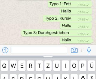 Whatsapp-Typo