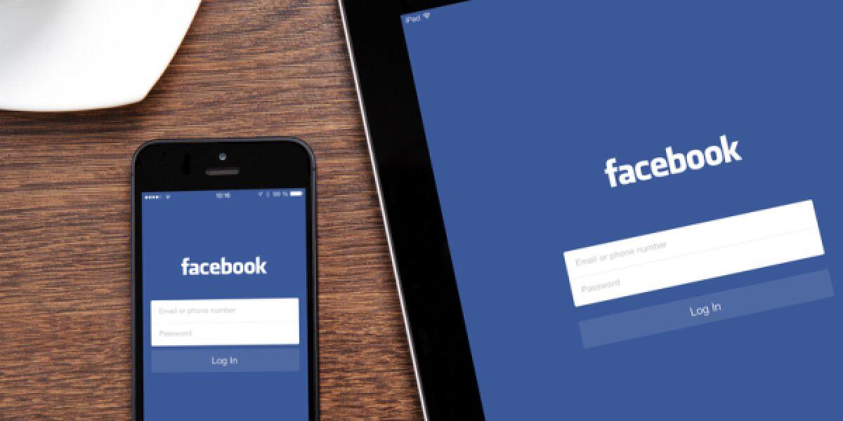 Faceook auf dem Smartphone und Tablet