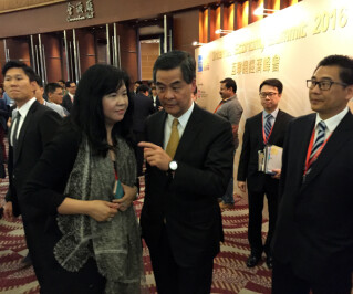 Joanne Cheung and C Y Leung