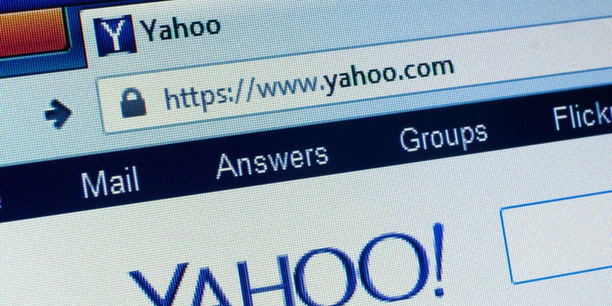 Yahoo Webseite