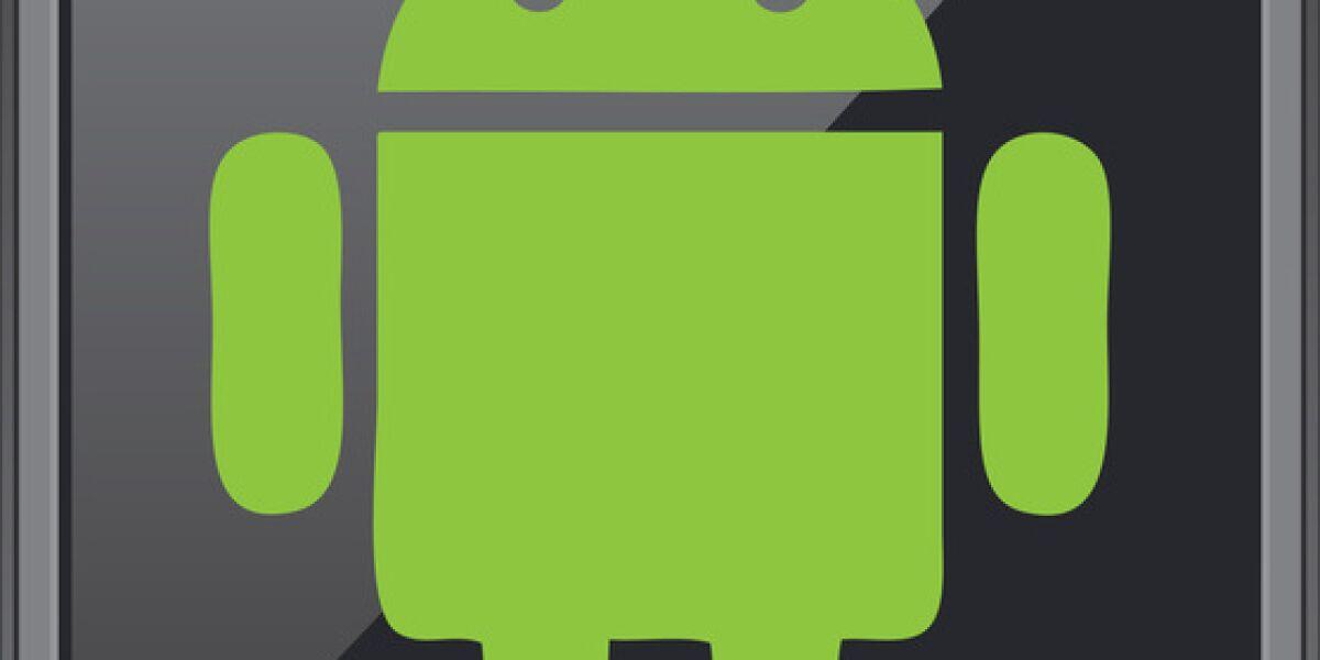 Android-Logo auf dem Smartphone