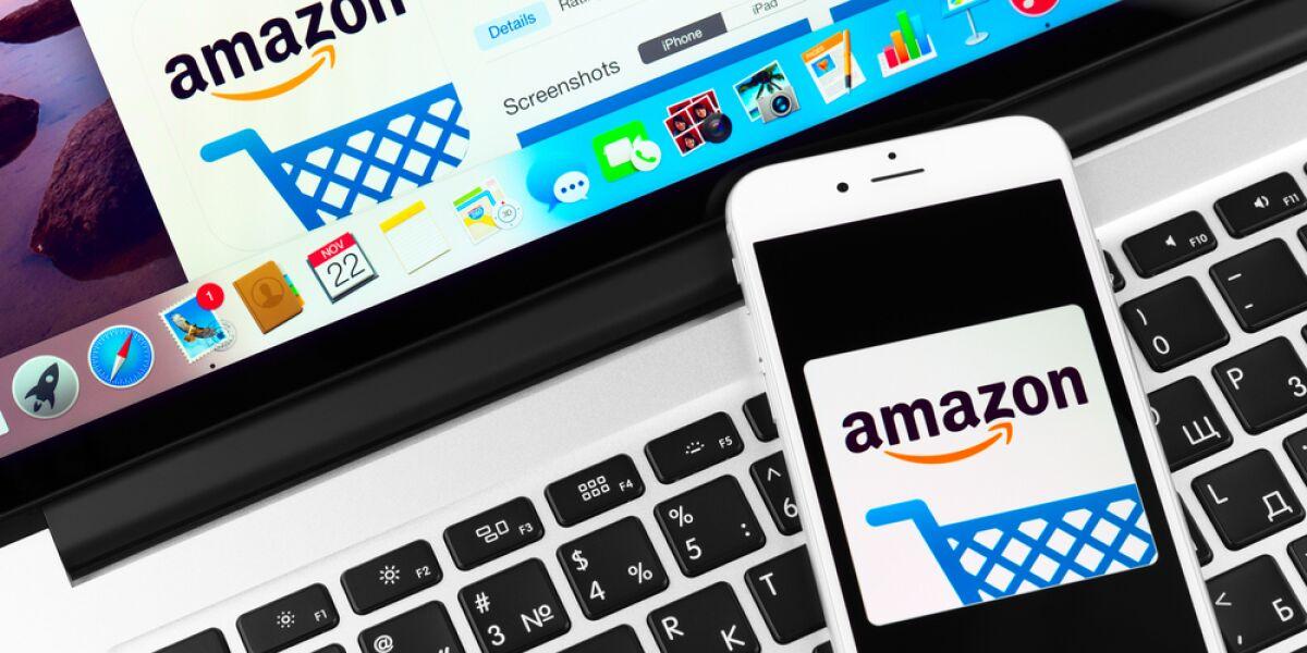 Amazon Handy und Laptop