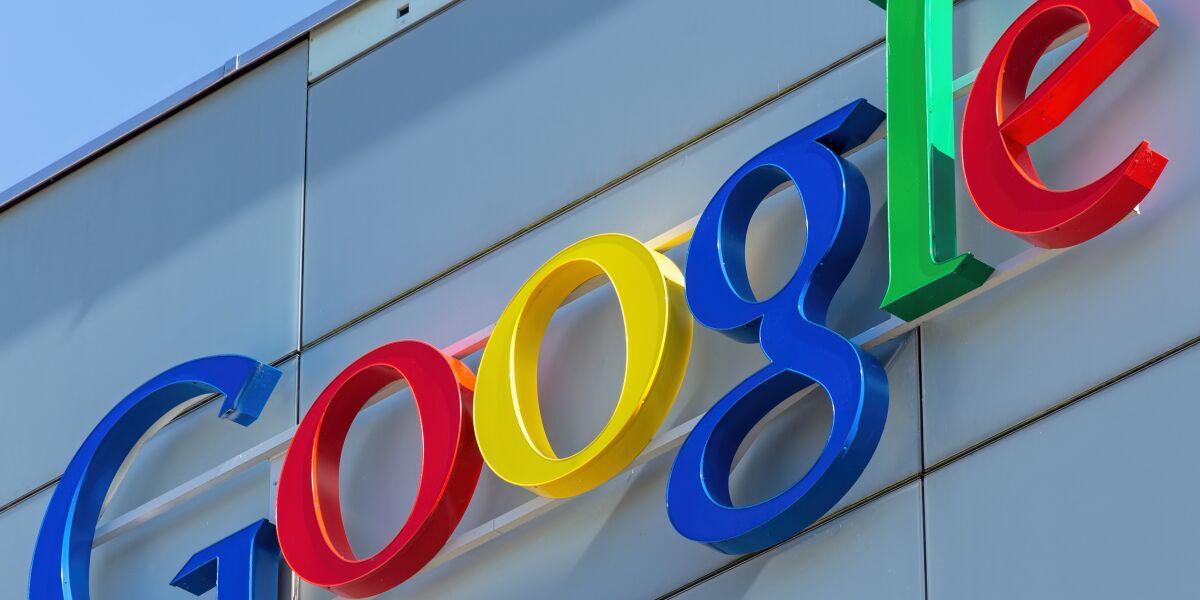 Google-Logo an Hauswand