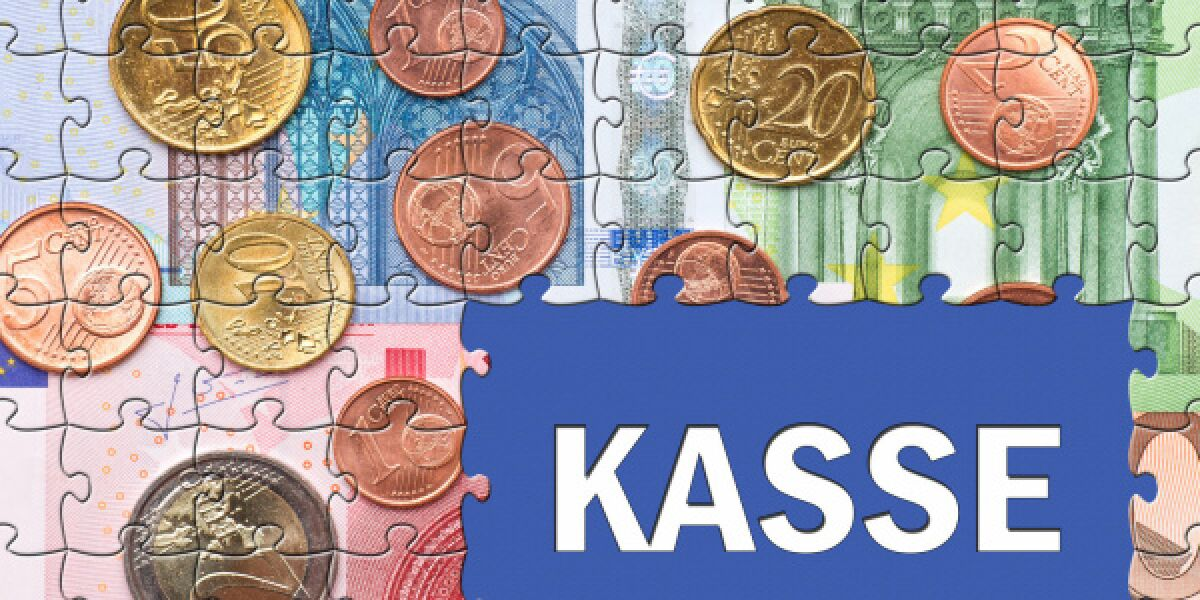 Geld-Puzzle-Kasse-Payment