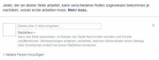 Facebook Seitenrechte