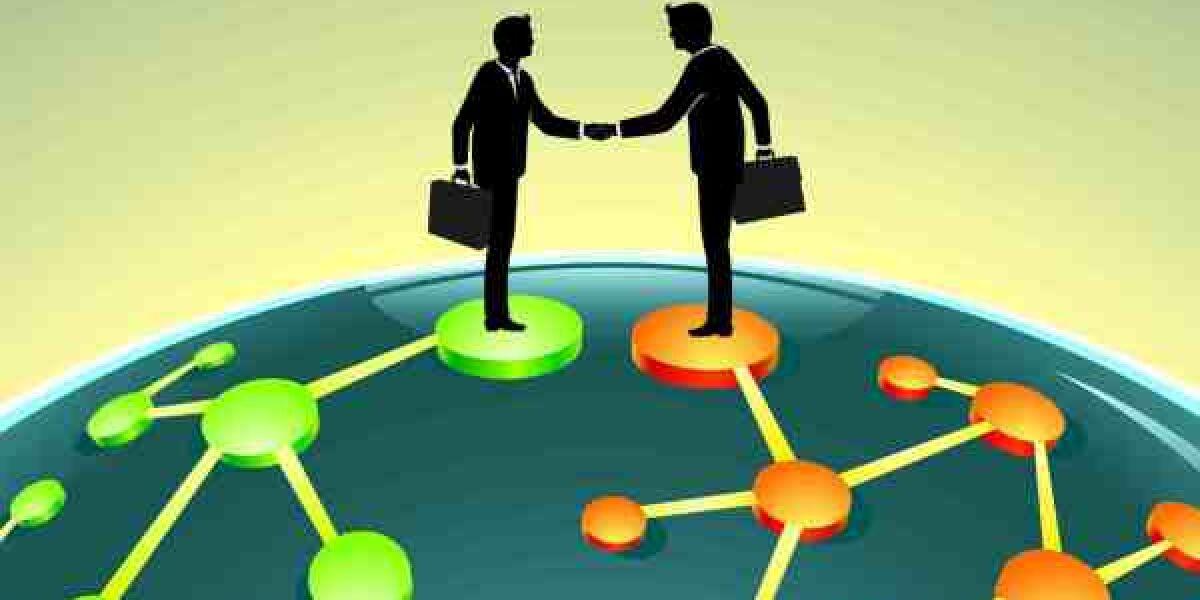 Uebernahme-Akquisition-zwei-Maenner-auf-Netzwerk-um-Globus