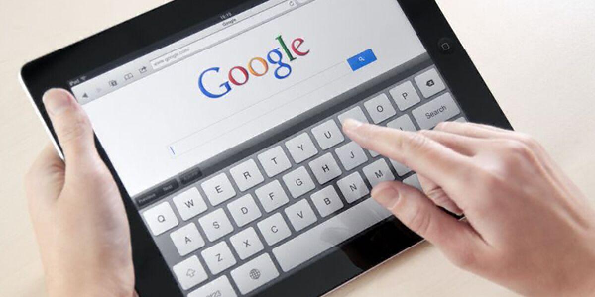 Google auf Tablet