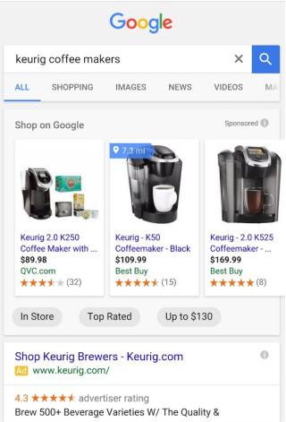 Suche nach Kaffeemaschine