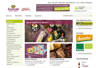 Der Online-Shop von Alnatura