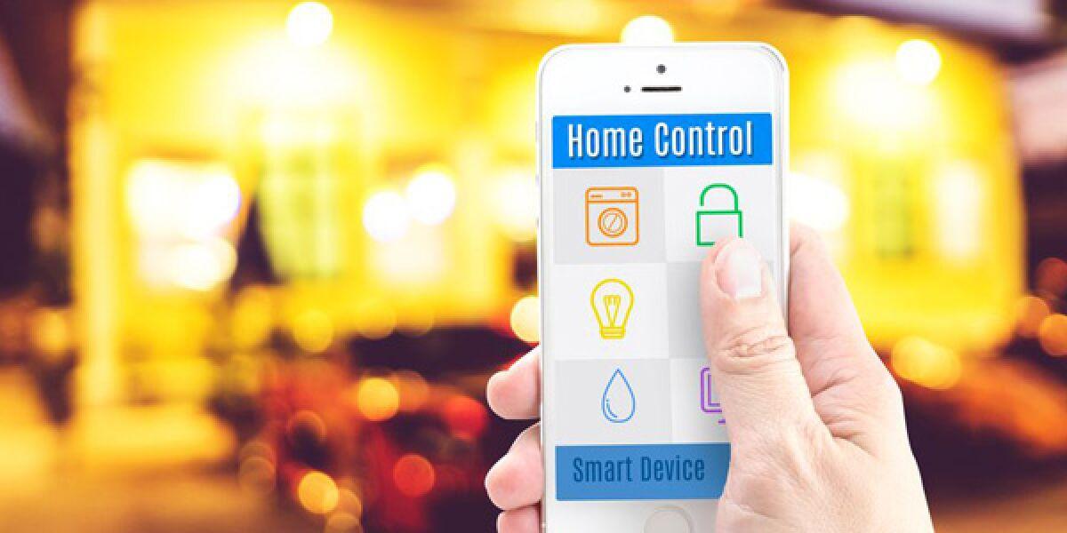 Smartphone scannt Haus