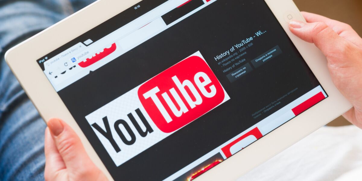 YouTube-App auf Tablet