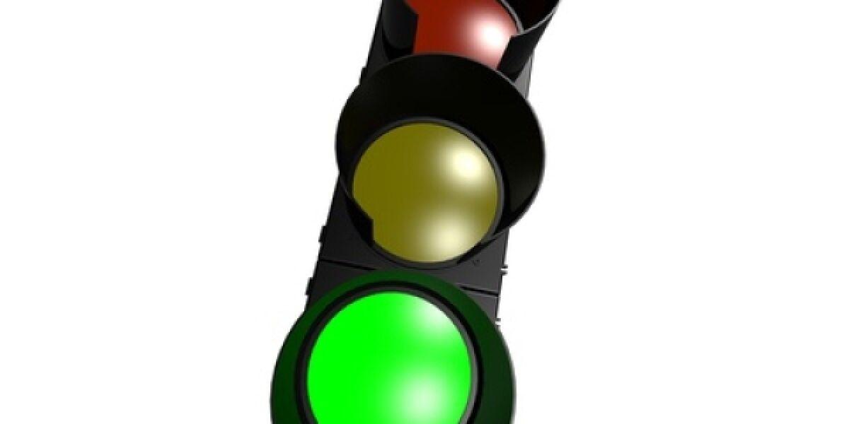 Ampel schaltet auf Grün