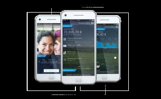 Smartphones mit der deutschen Bank App