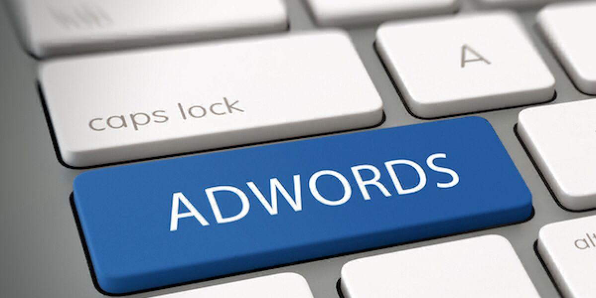AdWords auf Tastatur