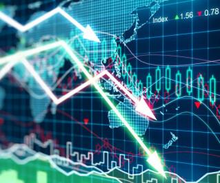 Kursabfall an der Börse