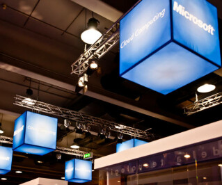 Microsoft Cloud-Installation auf Messe