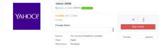 Yahoo-Datensatz im Dark Web