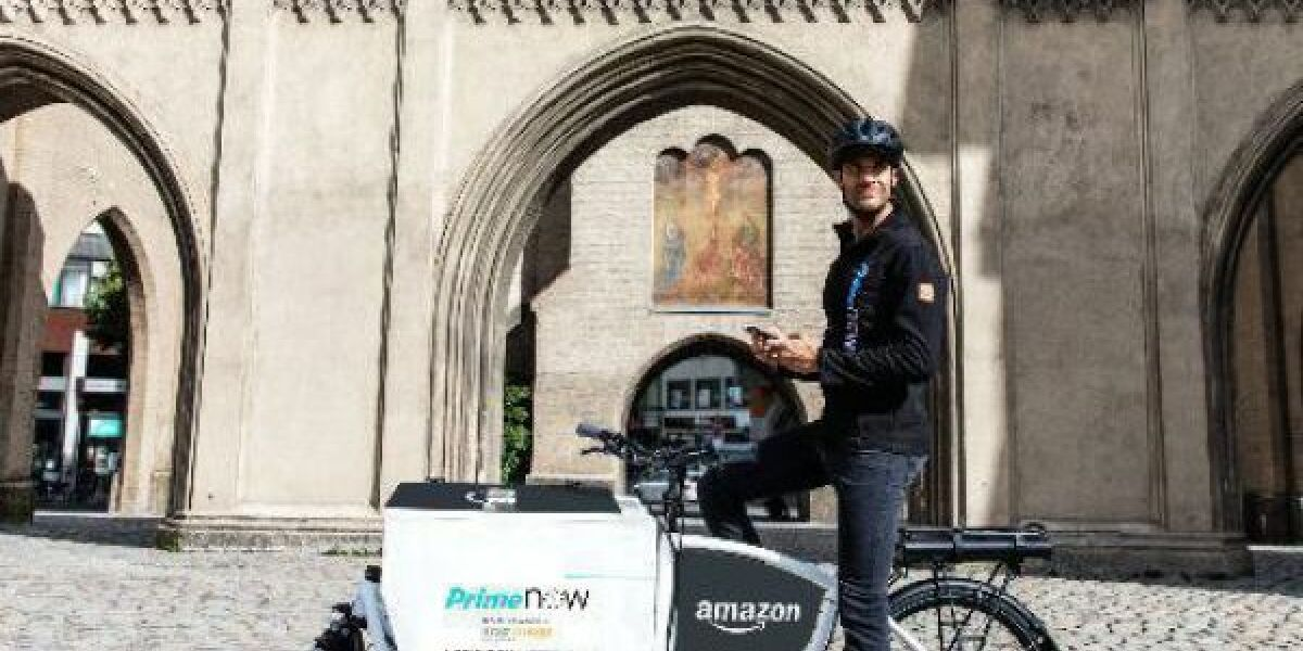 Amazon-Fahrer vor Isartor