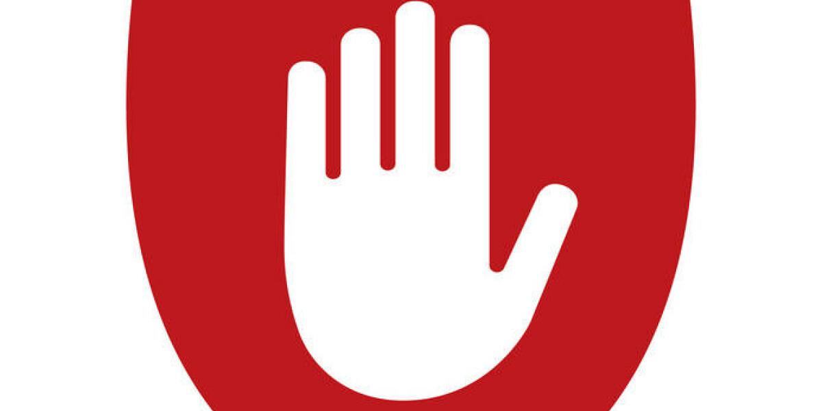 Weiße Hand auf rotem Schild