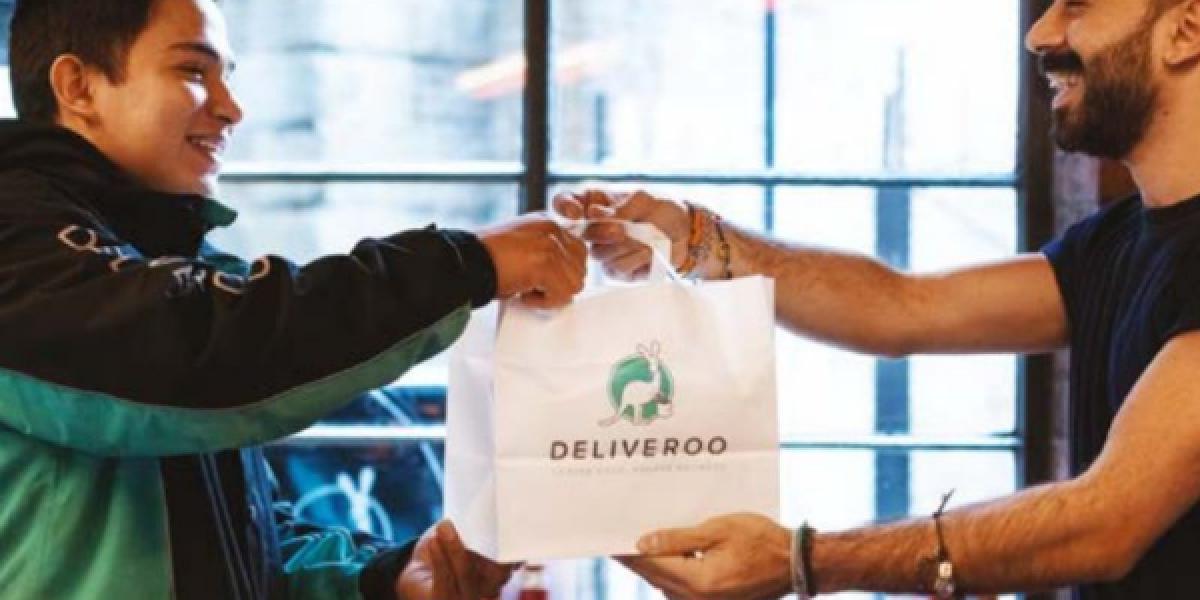 Deliveroo-Übergabe