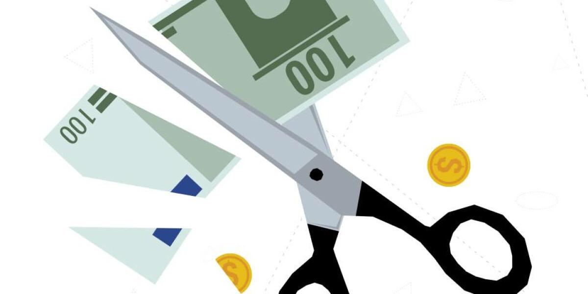 Schere-Banknote-Schnittstelle-Banking
