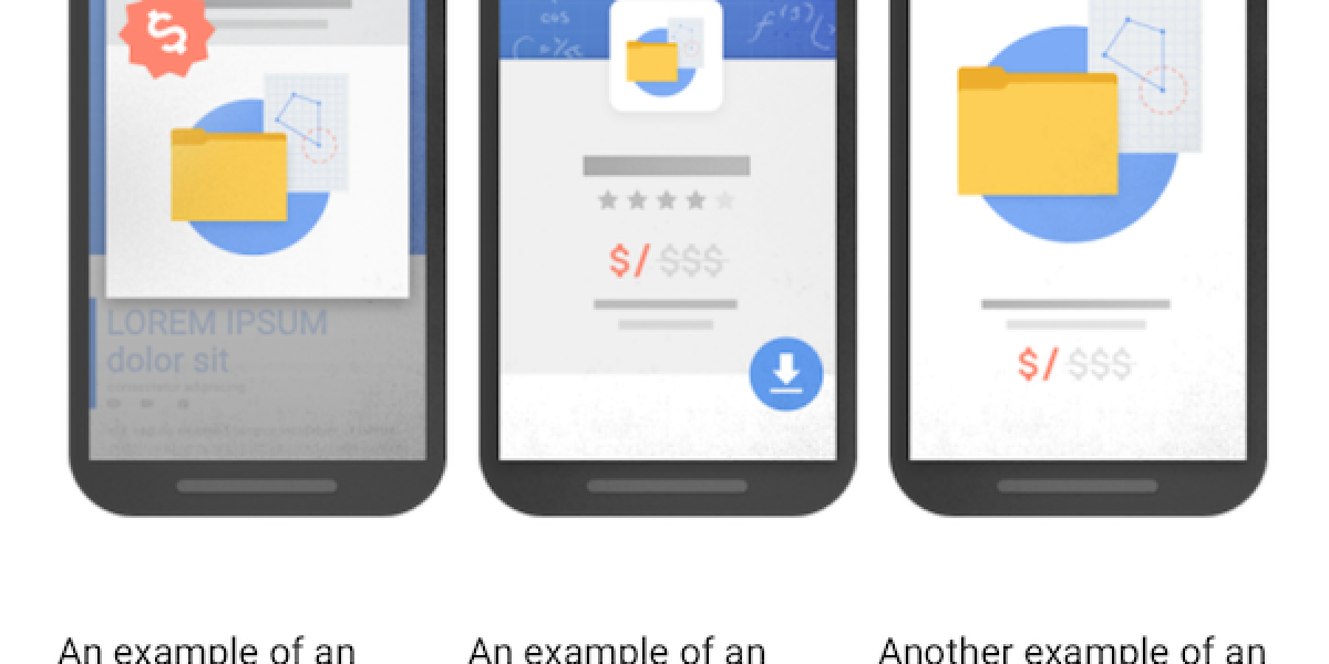 Smartphones mit Google Interstitial