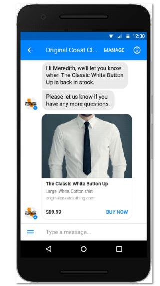 Payment im Facebook Messenger