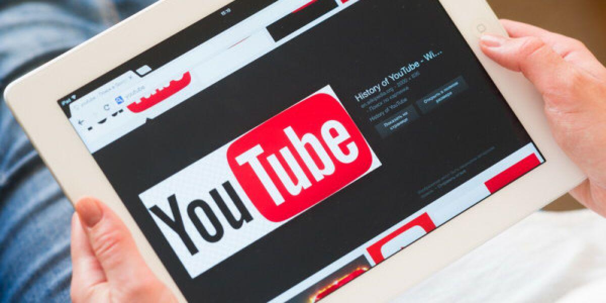 YouTube App auf Tablet