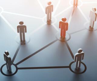 Leute vernetzt