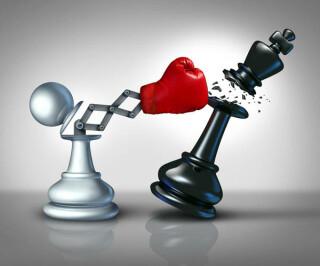 KO-Schlag von Schachfiguren