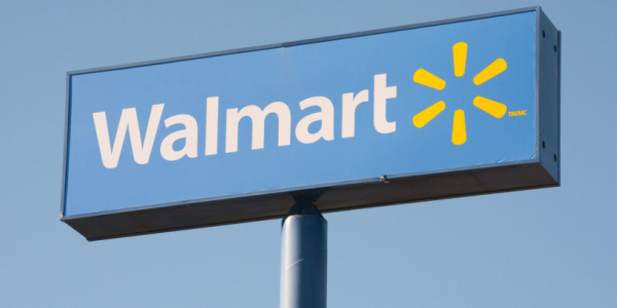 Schild mit Walmart