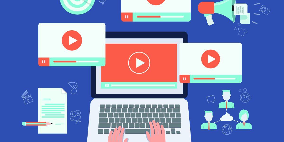 Verschiedene Geräte mit Video