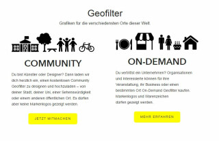 Geofilter für Community und Unternehmen